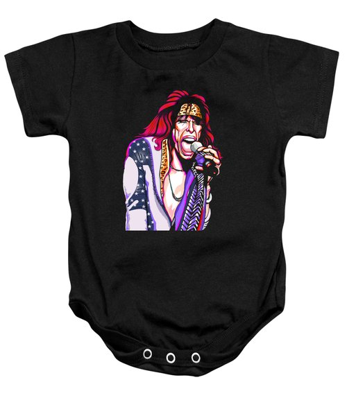 Steven Tyler Of Aerosmith Baby Onesie by GOP Art
