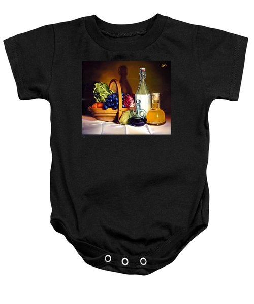 Still Life In Oil Baby Onesie
