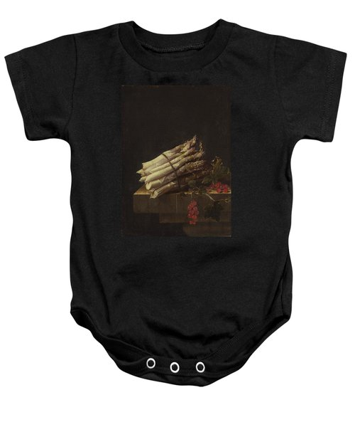 Still Life With Asparagus And Red Currants Baby Onesie