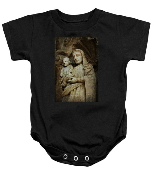 Stone Madonna And Child Baby Onesie
