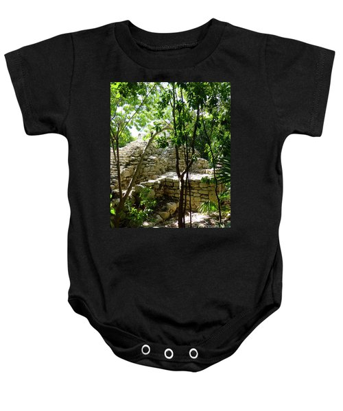 Baby Onesie featuring the photograph Stone Steps In The Jungle by Francesca Mackenney