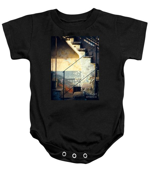 Baby Onesie featuring the photograph Stone Steps Outside An Old House by Silvia Ganora