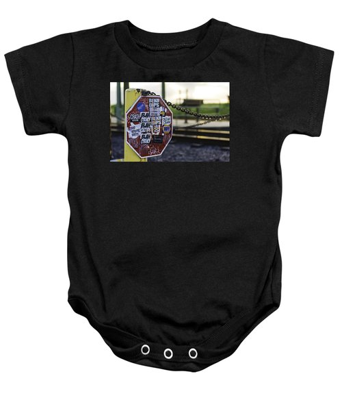 Stop Sign Ala New Orleans, Louisiana Baby Onesie