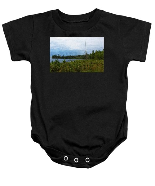 Storm On Raquette Lake Baby Onesie