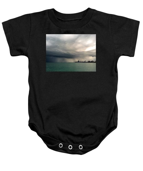 Storms Over Chicago Baby Onesie