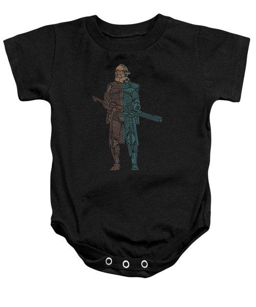 Stormtrooper Samurai - Star Wars Art - Minimal Baby Onesie