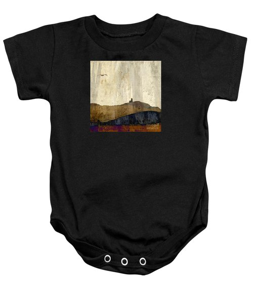 Strata With Lighthouse And Gull Baby Onesie