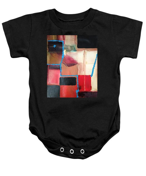 String Theory Abstraction Baby Onesie