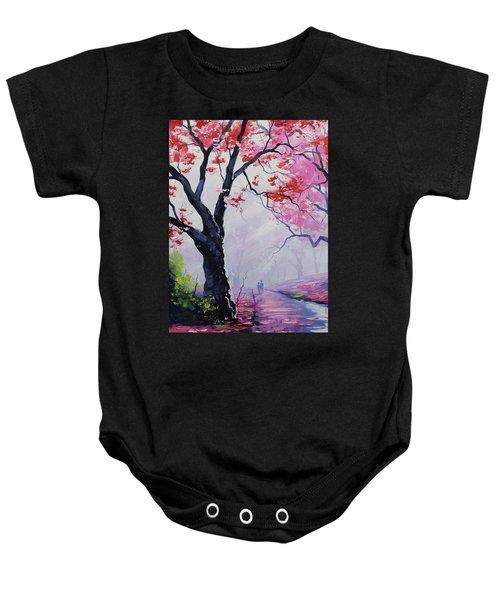 Stroll In The Mist Baby Onesie