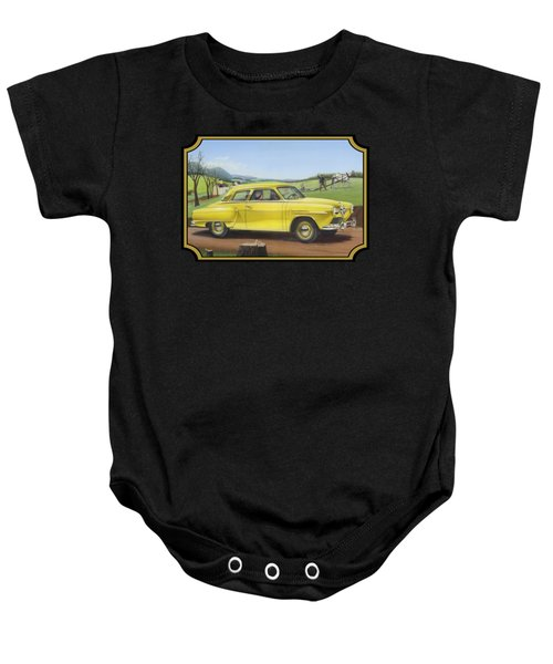 Studebaker Champion Antique Americana Nostagic Rustic Rural Farm Country Auto Car Painting Baby Onesie