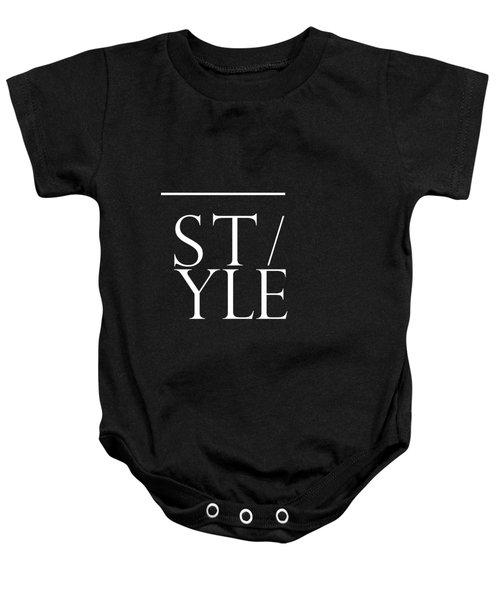 Style 1 - Minimalist Print - Typography - Quote Poster Baby Onesie