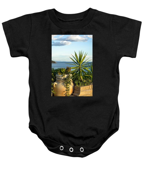 Succulents By The Sea Baby Onesie