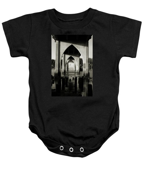 Suislaw River Bridge In Florence Oregon Baby Onesie