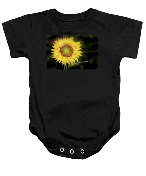 Summer Sunflower Baby Onesie