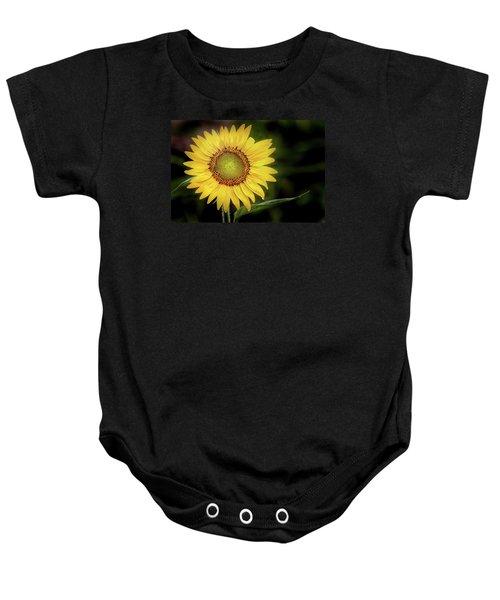 Summer Sunflower Baby Onesie