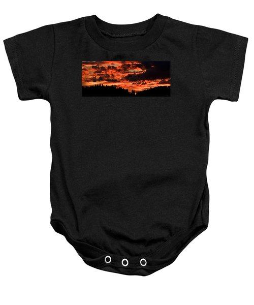 Summer's Crimson Fire Baby Onesie