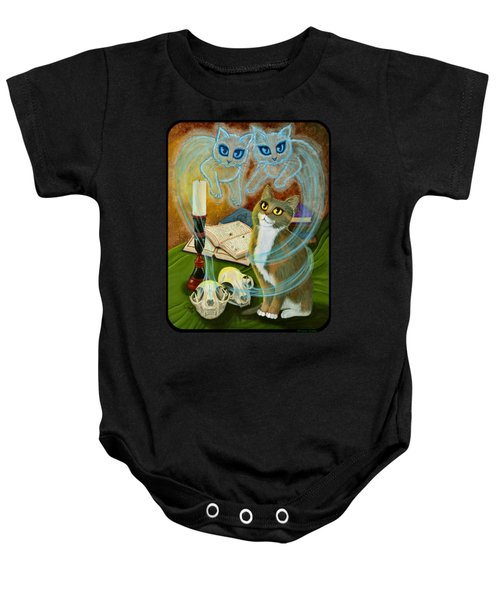 Summoning Old Friends - Ghost Cats Magic Baby Onesie