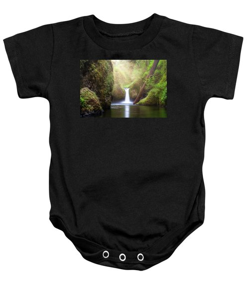 Sun Beams Over Punch Bowl Falls Baby Onesie