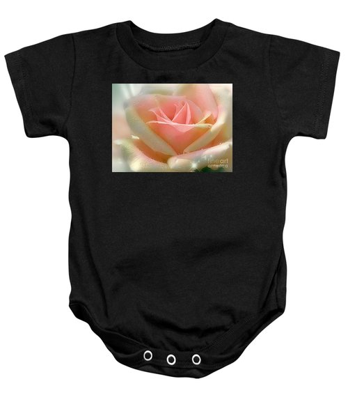 Baby Onesie featuring the pyrography Sun Blush by Morag Bates