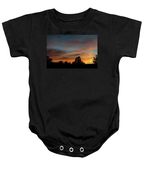 Sun Pillar Sunset Baby Onesie