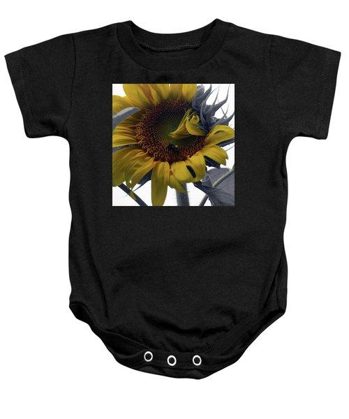 Sunflower Bee Baby Onesie