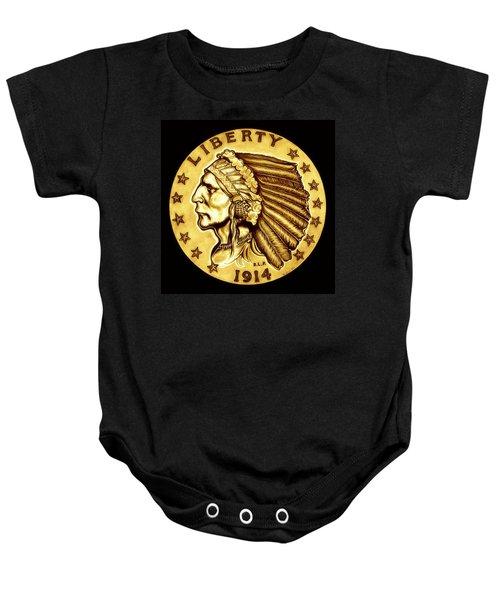 Sunflower Gold Quarter Eagle Baby Onesie