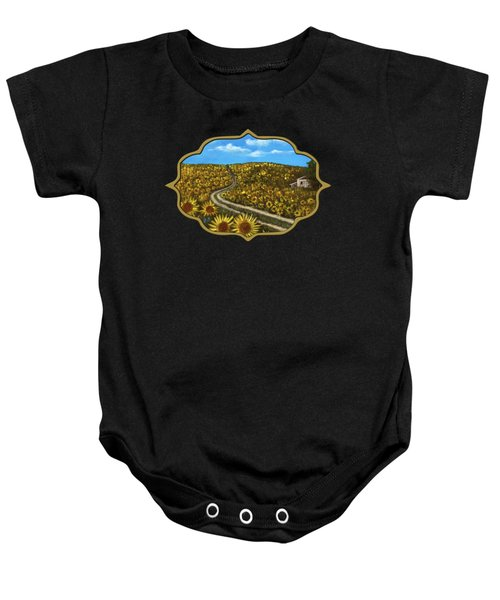 Sunflower Road Baby Onesie