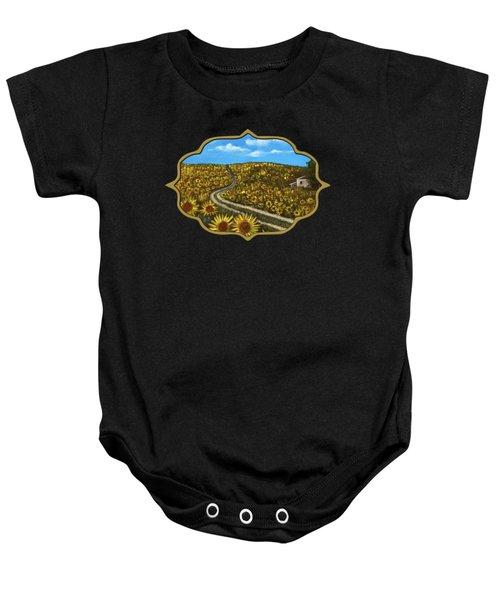 Sunflower Road Baby Onesie