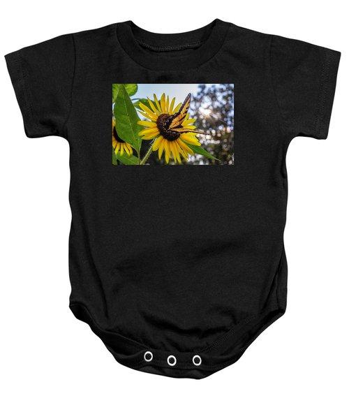 Sunflower Swallowtail Baby Onesie