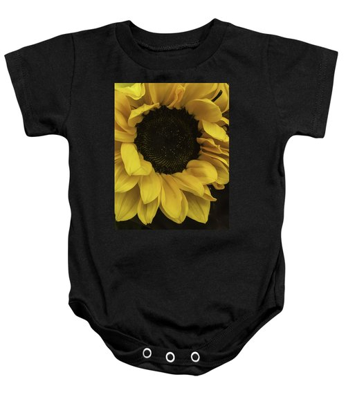 Sunflower Up Close Baby Onesie