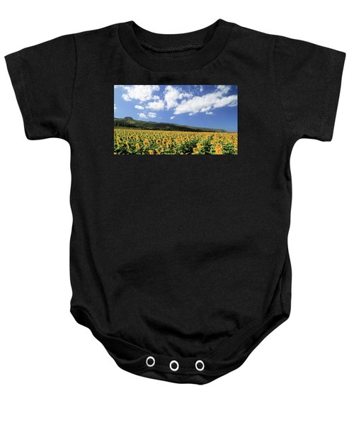 Sunflowers In Waialua Baby Onesie