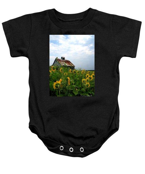 Sunflowers Rt 6 Baby Onesie