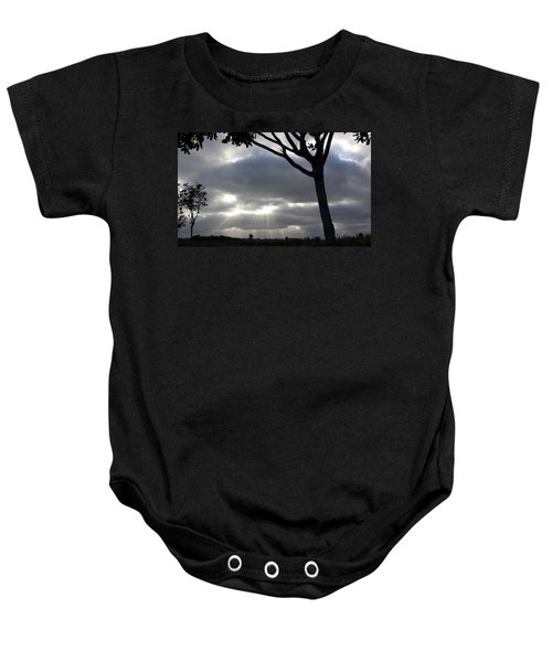 Sunlit Gray Clouds At Otay Ranch Baby Onesie