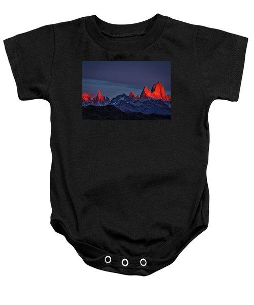 Sunrise At Fitz Roy #2 - Patagonia Baby Onesie