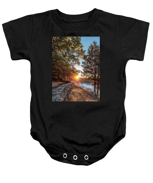 Sunrise At Great Bend Baby Onesie