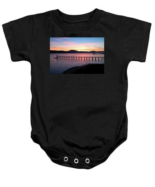 Sunrise Over Tomales Bay Baby Onesie