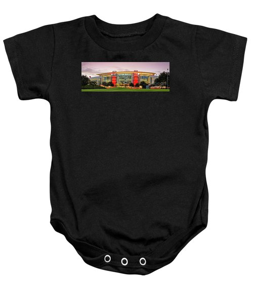 Sunrise Panorama Of George R Brown Convention Center In Downtown Houston - Texas Baby Onesie