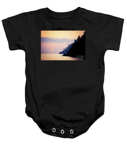 Sunrise Sea Rythm  Baby Onesie
