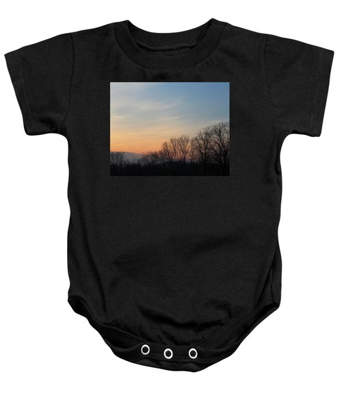 Fall Sunset Baby Onesie