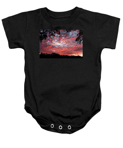 Sunrise Through The Trees Baby Onesie