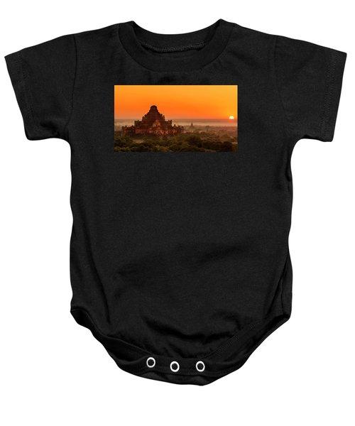 Sunrise View Of Dhammayangyi Temple Baby Onesie