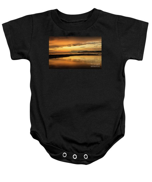 Sunset And Reflection Baby Onesie