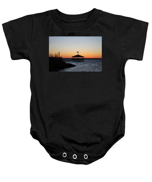 Sunset At Fagers Island Gazebo Baby Onesie