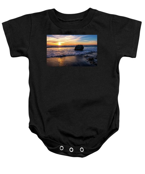 Sunset At San Simeon Beach Baby Onesie