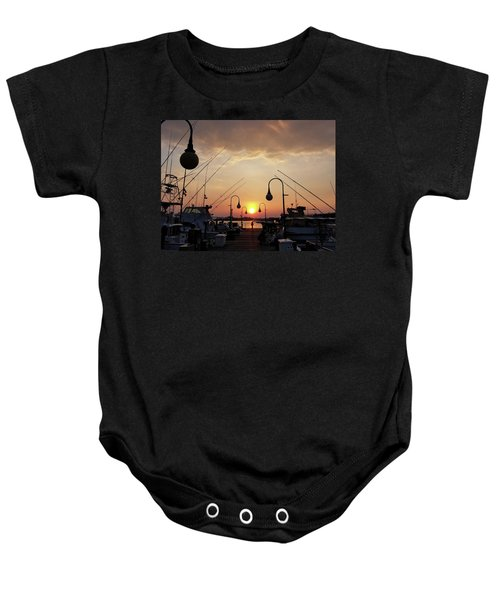 Sunset At The End Of The Talbot St Pier Baby Onesie