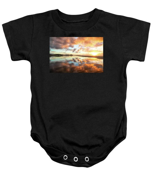 Sunset Beach Reflections Baby Onesie