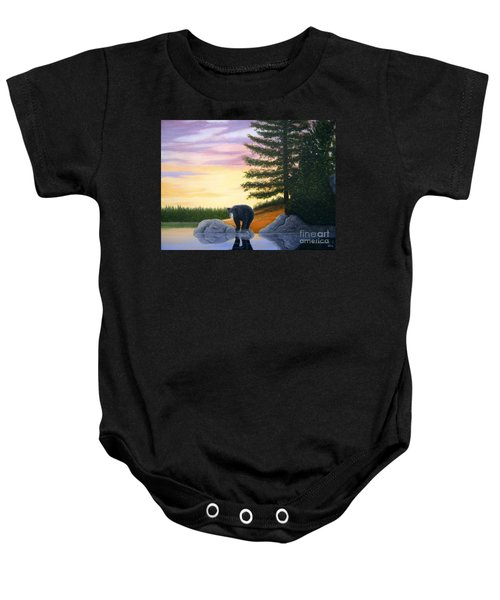 Sunset Bear Baby Onesie