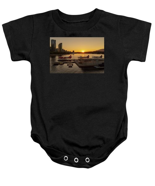 Sunset By The Seaplanes Baby Onesie