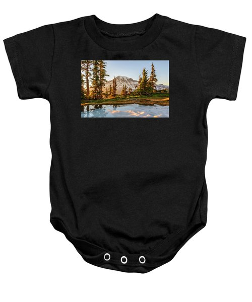Sunset In The Pinnacle Saddle Baby Onesie