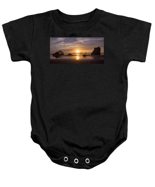 Sunset On Bandon Beach Baby Onesie
